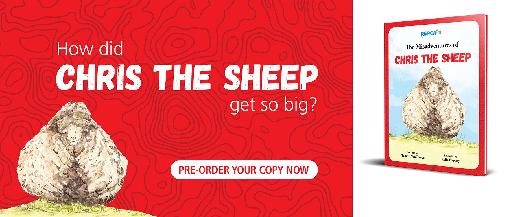 Pre-Order Your Copy of the Chris the Sheep Book.