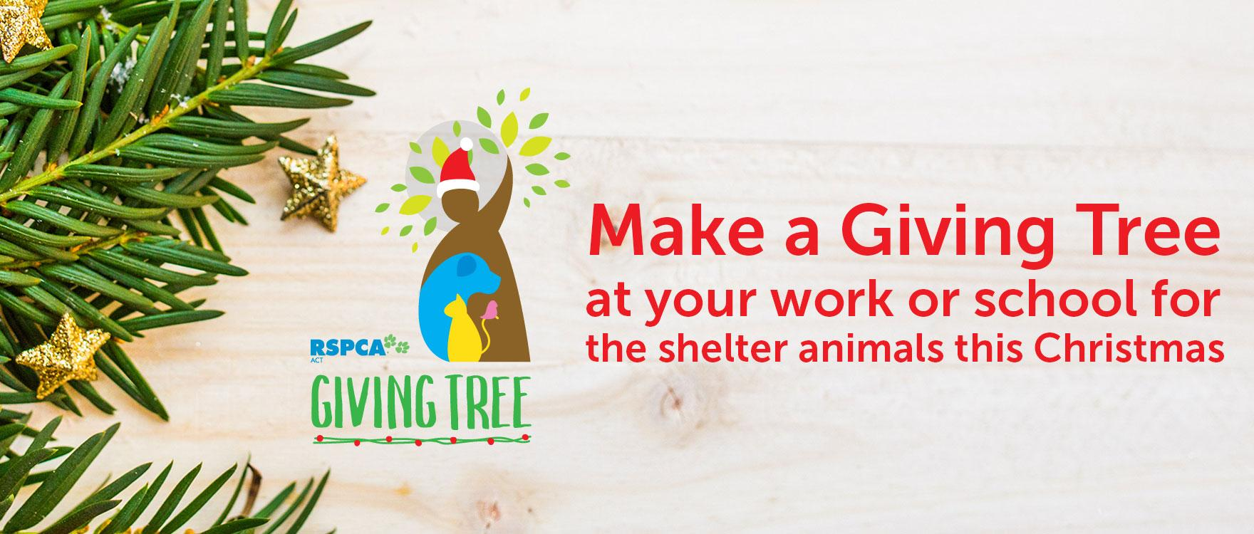 Giving Tree - help make shelter animals feel loved this Christmas